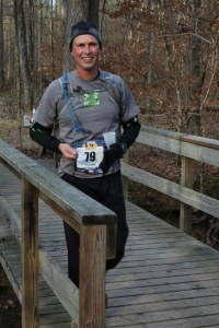 Frost on my head at the 2013 Harbison 50K