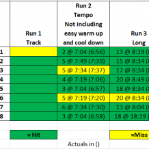 Week 8: BQ Training with Run Less Run Faster