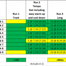 Week 9: BQ Training with Run Less Run Faster
