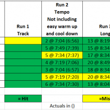 Week 7: BQ Training with Run Less Run Faster