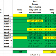 Week 12: BQ Training with Run Less Run Faster